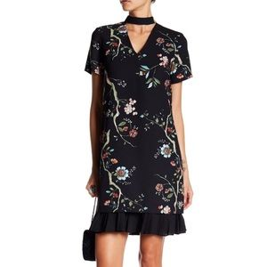 Nanette Lepore Choker Neck Floral Dress